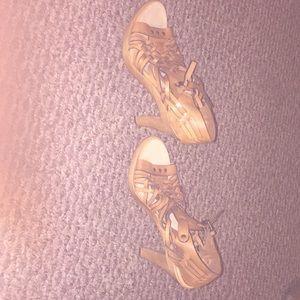 Michael kors tan heeled sandal brand new sz 9